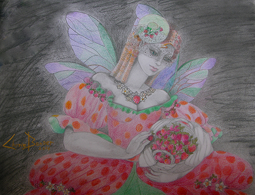 Delicious Strawberry Fairy by Cherie Bender